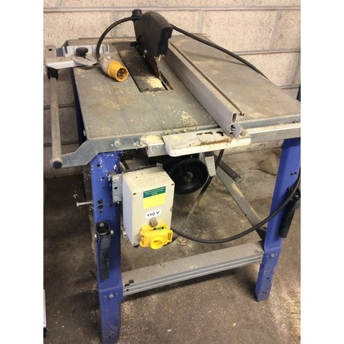 85 - COLLECTION PAR; plus VAT Electra Beckum table saw with folding extending trolley, 110V with safety m...
