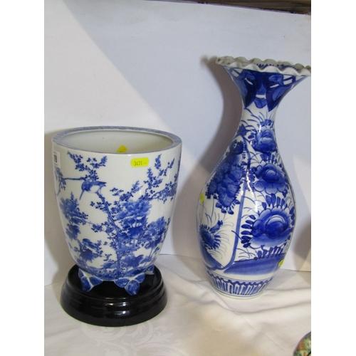 19 - JAPANESE UNDERGLAZE BLUE, 8.5
