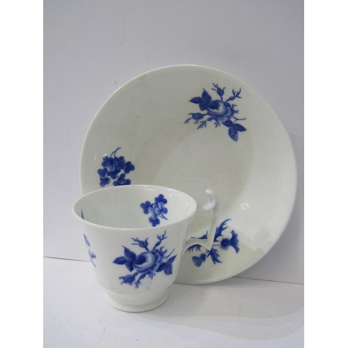 22 - ANTIQUE WELSH PORCELAIN, Swansea style plate, jug and two cups, together with New Hall London shape ...