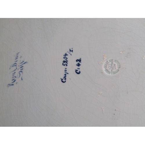 23 - ROYAL BONN, pair of Delft portrait plates