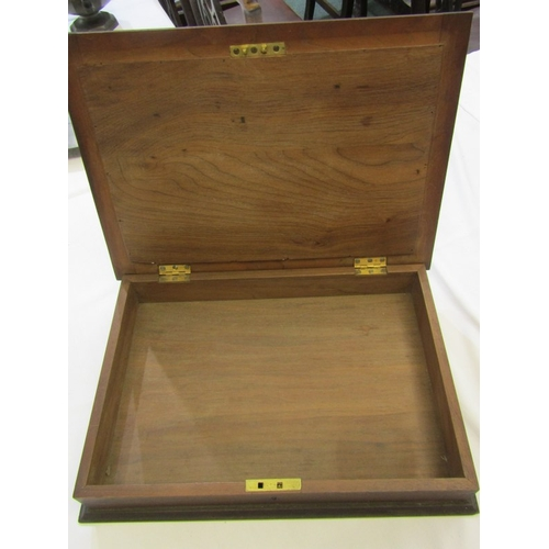 236 - DOCUMENT BOX with glazed top enclosing leopard skin panel, 15