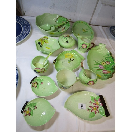 24 - CARLTON, collection of mainly leaf based Carlton tableware including Primula salad bowl and servers