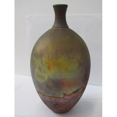 58 - RAKU, attractive glazed oviform 9