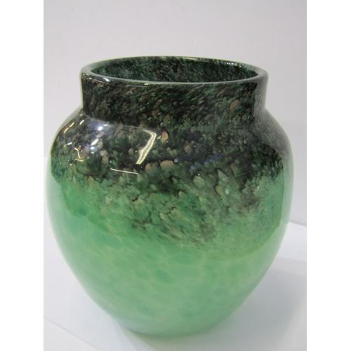 72 - MONART ART GLASS, gold speckled and green mottled 7