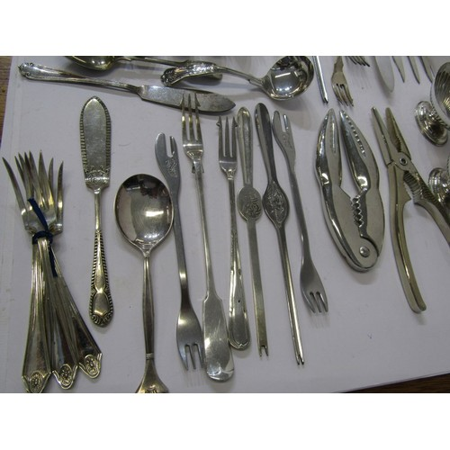 267 - ART DECO, Mawston 3 piece chrome tea service and matching tray, also collection of antique and later...