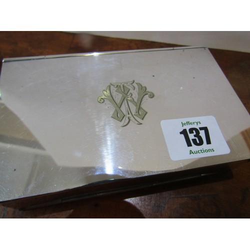 137 - NOVELTY PLATED BOX, folding plated box 5.5