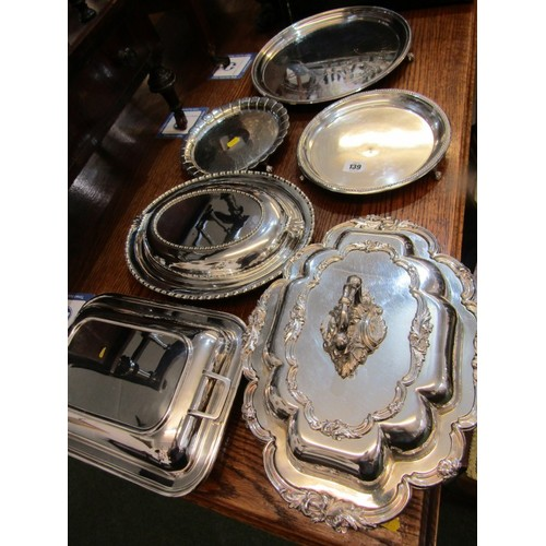 139 - SILVER PLATE, 3 Quality plated salvers the largest 12