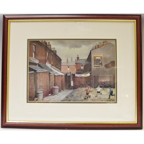 48 - Tom Brown (1933 - 2017) Northern School ' Guinness Is Good For You ' pastel study, framed...