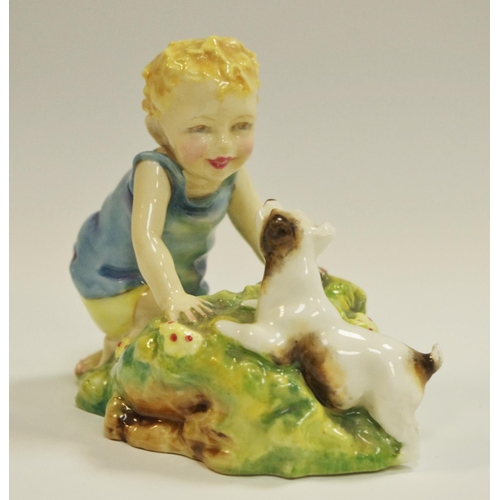 5 - A Royal figure group ''Two Babies'' modelled by F.G. Doughty...