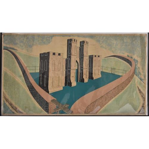 3218 - Richard Gerald Talbot Guyatt (1914 - 2007), after, Ralph Allen's Sham Castle, near Bath, an original...