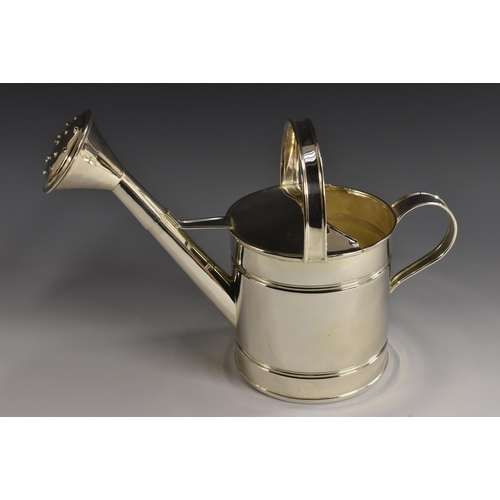 2 - An unusual E.P.N.S watering can, 18.5cm high...