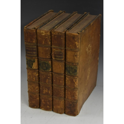 3611 - Blackstone (William, Esq., Solicitor General to Her Majesty), Commentaries on the Laws of England, f...