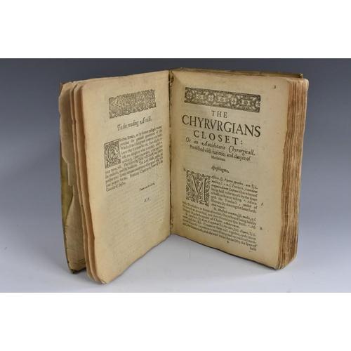 3612 - Bonham (Thomas), The Chyrurgians (sic) Closet: or, An Antidotarie (sic) Chyrurgicall (sic), Furnifhe...