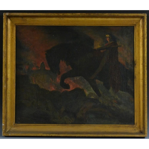 3155 - French Symbolist School (late 19th/early 20th century) Nightmare oil on canvas, 48cm x 59cm