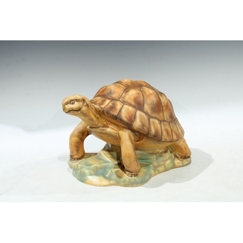 34 - A Goebel oversized model of a tortoise, 22cm high, impressed and printed marks to base (faults)...