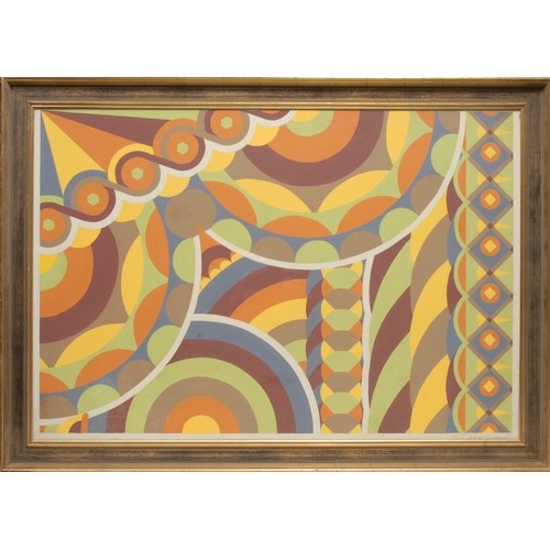 51 - Desmond Rayner (Bn.1928) Abstract  signed in pencil, oil on paper, 67cm x 98cm...