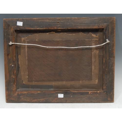 56 - Dutch School (18th century) Cart Horse Waiting on the Harbour oil on panel, 24cm x 35cm...