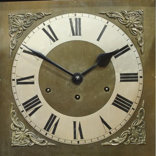 20 - A 20th century oak longcase clock, romans numerals, 180cm high...