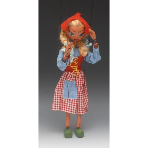 11 - <p>SS Dutch Girl - Pelham Puppets SS Range, round wooden head, hand painted features, blue eyes, com...