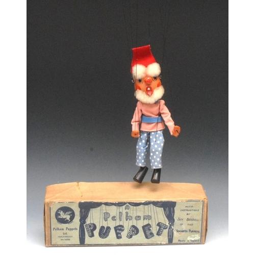 14 - SS Dwarf - very rare, Pelham Puppets SS Range, wooden head, large ball nose, lambs wool hair, hand p...