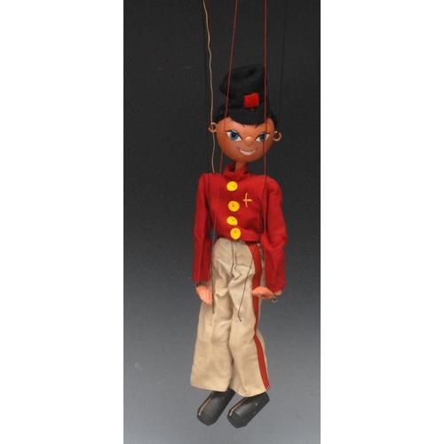 15 - SS Fritzi - Pelham Puppets SS Range, wooden ball head, black hair, hand painted features, blue eyes,...