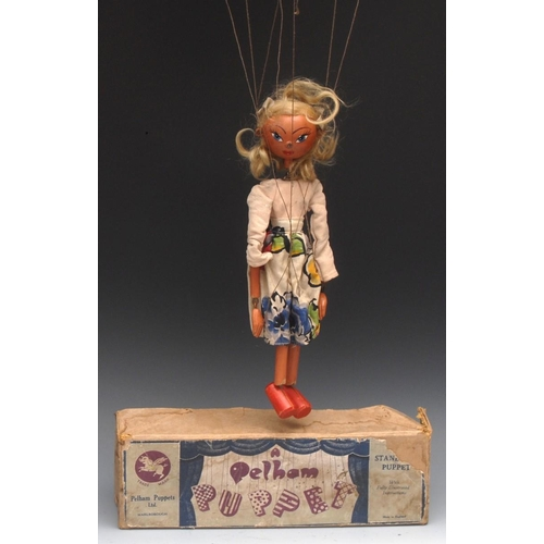 16 - SS Girl - early and rare, Pelham Puppets SS Range, wooden ball head, blond hair, hand painted featur...