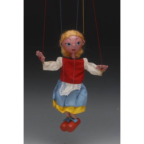 17 - SS Goldilocks from Goldilocks and the Three Bears - Pelham Puppets SS Range, wooden ball head, blond...