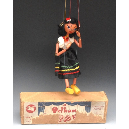 31 - SS Gypsy - Pelham Puppets SS Range, wooden ball head, black hair, painted features, blue eyes,  comp...
