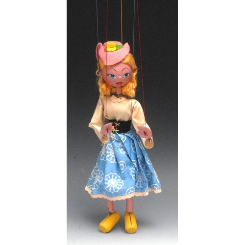 35 - SS Mitzi - Pelham Puppets SS Range, wooden ball head, blond hair, hand painted features, blue eyes, ...