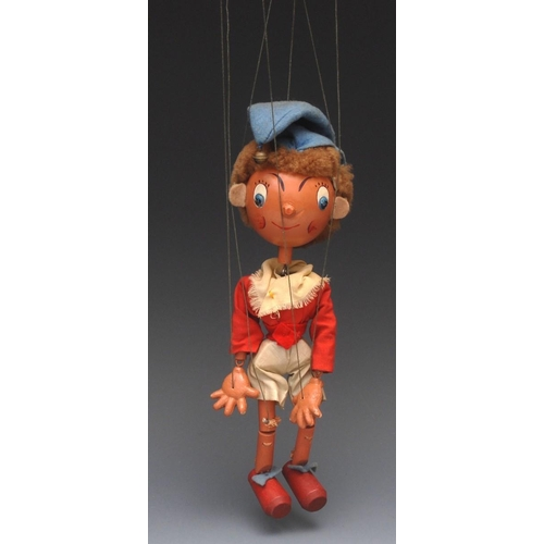 37 - SS Noddy (large Ball Head version) - Pelham Puppets SS Range , large round wooden head, faux hair, h...