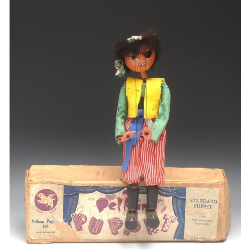 41 - SS Pirate Man - very rare, Pelham Puppets SS Range, round wooden head, painted features, green eyes,...