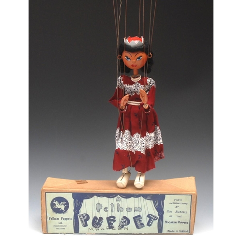 43 - SS Queen - early and very rare, Pelham Puppets SS Range, round wooden head with painted features, bl...