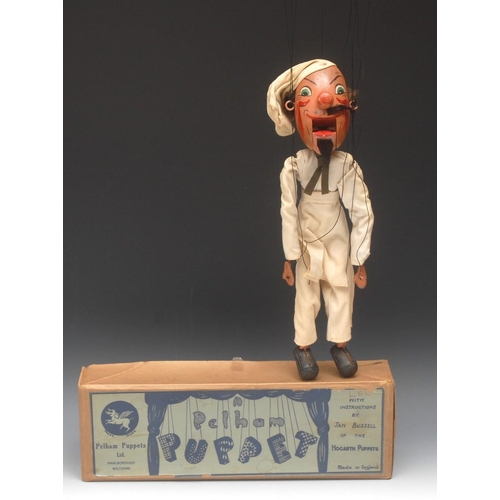61 - SM Chef with oval head - extremely rare, Pelham Puppets SM Range, very early version with large oval...