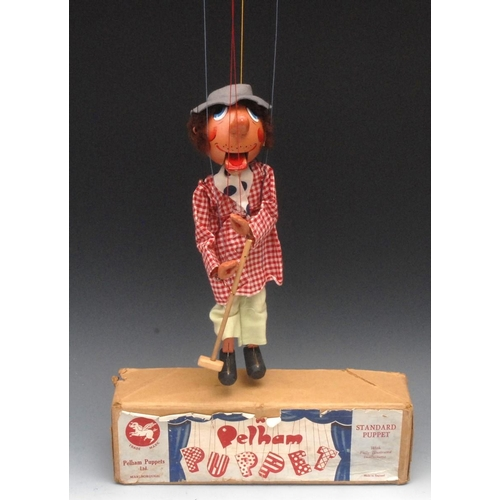 67 - SM Farmer, with upturned nose - very rare, Pelham Puppets SM Range, brown hair, painted features, la...