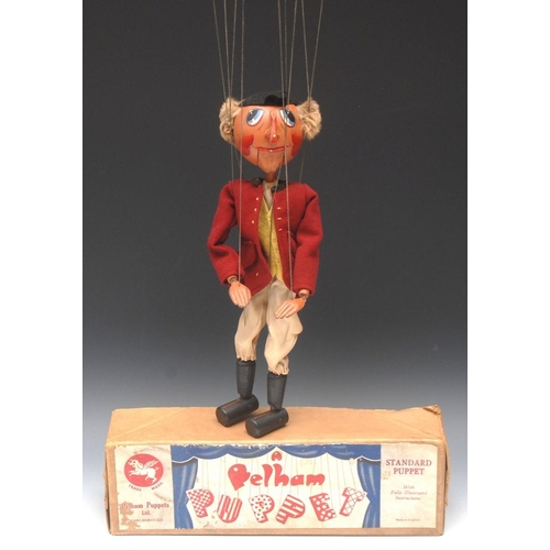 71 - SM Huntsman - Pelham Puppets SM Range, round wooden head,  painted features, large upward gazing blu...