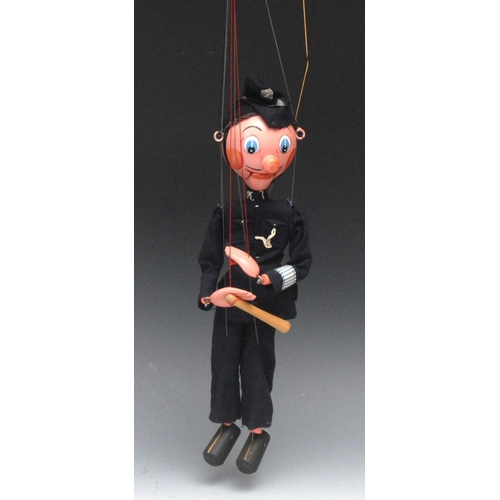 84 - SM Policeman (PC 7) - Pelham Puppets SM Range, black hair, painted features, blue eyes, ball nose, o...