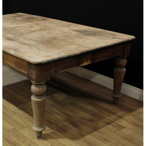 2 - Barn Salvage - a 'Victorian' estate made table, of unusual vernacular composition, rounded rectangul...