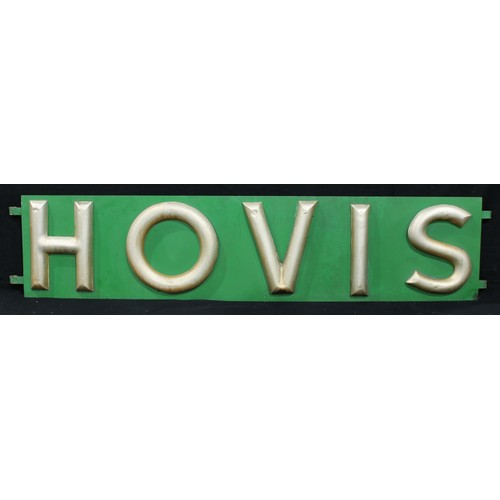 2235 - Advertising, Hovis – an early 20th century Hovis rectangular horizontal bakery sign, raised gilded l...