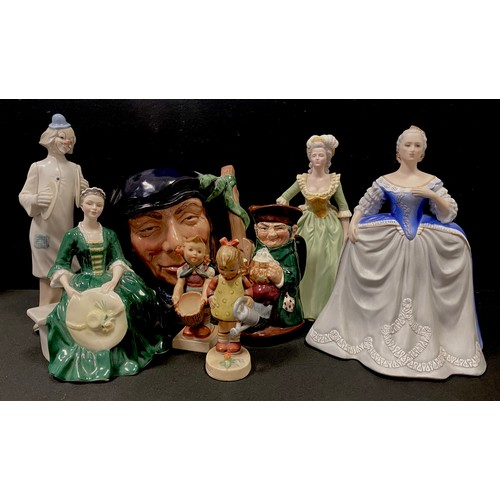 16 - A Royal Doulton figure HN2228 'A Lady from Williamsburg'; a Franklin Porcelain limited edition figur...