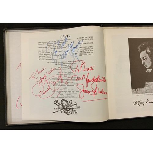 17 - Autographs & Vinyl Records - Opera and classical music autographed boxed sets etc signatures inc Joa...