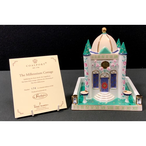 19 - A Coalport model, The Millennium Cottage, exclusively produced for Sinclair's, limited edition, 174/...