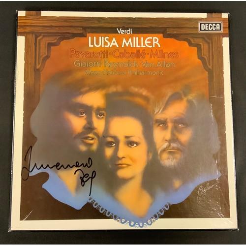 45 - Autographs & Vinyl Records - Opera and classical music autographed boxed sets etc signatures inc Luc...