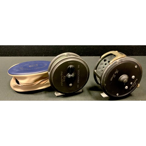 50 - A Hardy The 'Viscount' 130 reel with original pouch; another The 'Zenith' 3