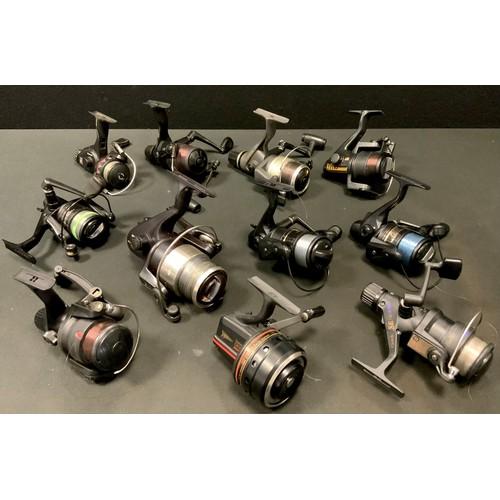 54 - Twelve fishing reels including a Team Daiwa Match-S 2503A; another; Daiwa Match-X 2503iA; Daiwa Harr...