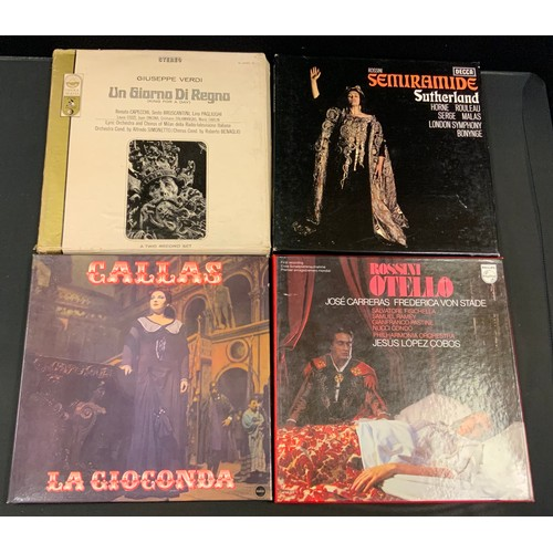 56 - Autographs & Vinyl Records - Opera and classical music autographed boxed sets etc signatures inc Luc...