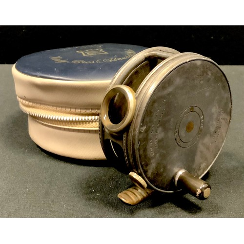 59 - An early 20th century Hardy Bros Ltd, Alnwick, The 'Perfect' Fly Reel size 3 1/8