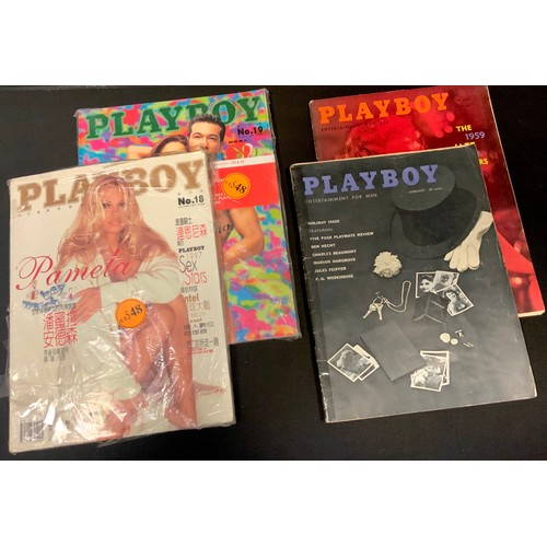 23 - Erotica - vintage Playboy magazine January 1959 vol.6 no. 1 Holiday Issue; another February The 1959...