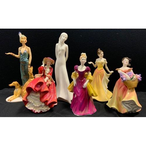 39 - A Royal Doulton figure Jessica Hn 4049; others Lesley, Loretta, Victoria;  etc, all seconds (6)...