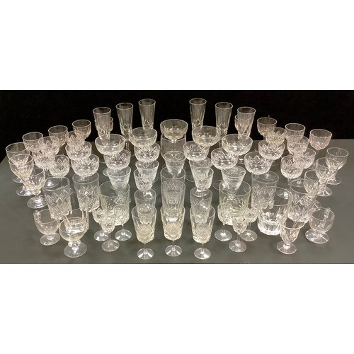 42 - Crystal and cut glass including Champagne flutes, other wine glasses, liqueur, tumblers etc....