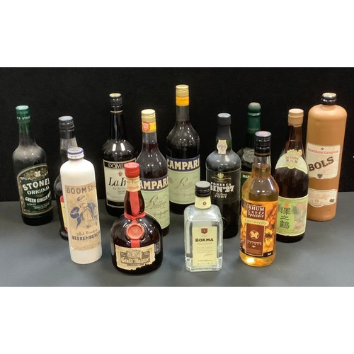 56 - Alcohol - Grand Marnier, liqueur, 70cl, 40%vol; Bokma Graanjenever 1826, 50cl, 35%vol; Rhum  Cuvée S...